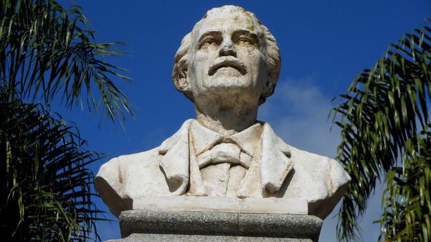 Das Denkmal von Teófilo Romang, der eigentlich Peter Wingeier hiess, und im 19. Jahrhundert von Trubschachen nach Argentinien ausgewandert ist.