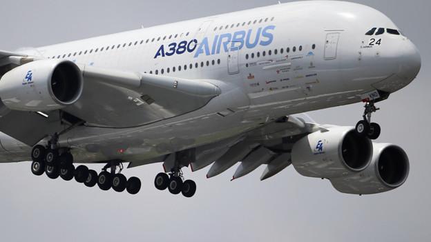 Der Airbus 380 ist das grösste zivile Verkehrsflugzeug, das bisher in Serienfertigung produziert wurde