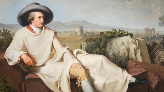 Porträt von Johann Wolfgang von Goethe in der Campagna, gemalt 1787 in Rom.