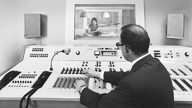 Studio und Regie 1970 im Radiostudio Zürich.