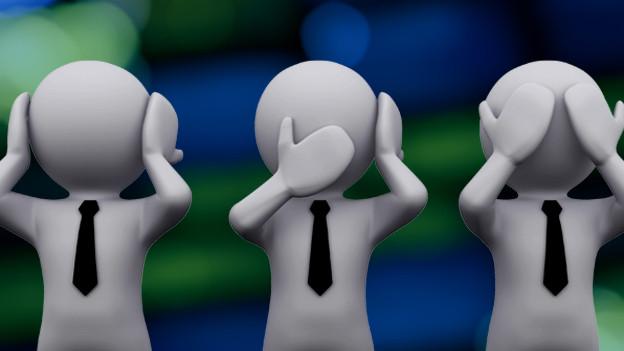 Die meisten Menschen stellen auf lieber «blind, taub und stumm» anstatt zu helfen.