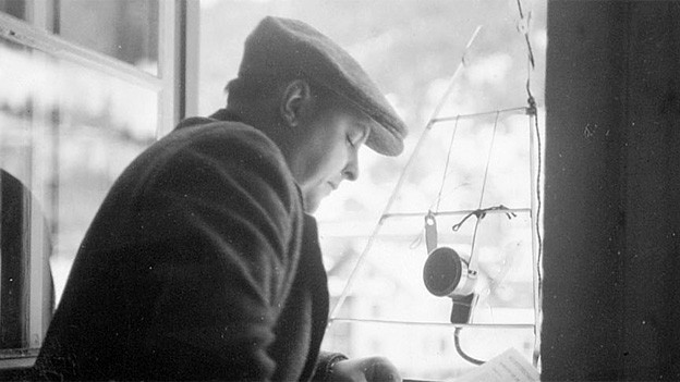 Vico Rigassi 1935 an der Eishockey-Weltmeisterschaft in Davos.