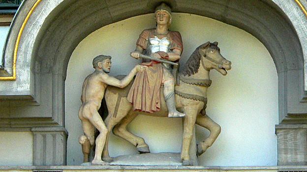 Statue des Heiligen Michael (Schloss in Höchst am Main).