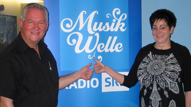 Lothar und Romy vom Duo Via Mala zu Gast bei SRF Musikwelle.