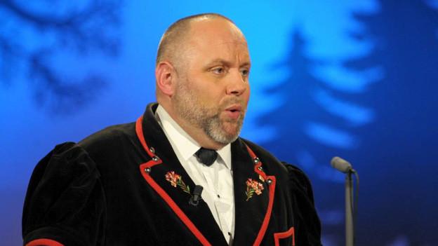 Stephan Haldemann während eines Auftritts in der TV-Sendung «Potzmusig».