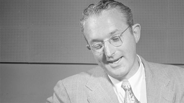 Schwarz-Weiss Fotografie von Tommy Dorsey (1905-1956).