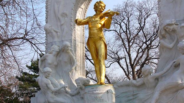 Johann Strauss Denkmal in Wien.