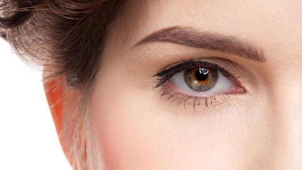 Die Haare der Augenbrauen wachsen nur bis zu einer gewissen Länge.