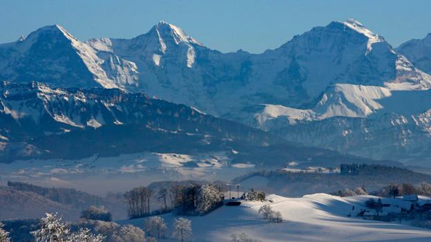 Eiger, Mönch und Jungfrau (v.l.n.r.).