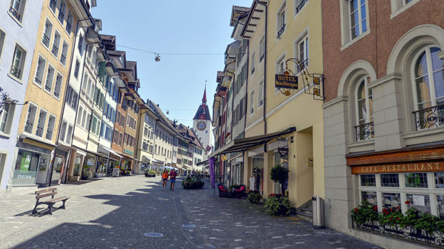 Blick in die Häuserzeilen der Altstadt.