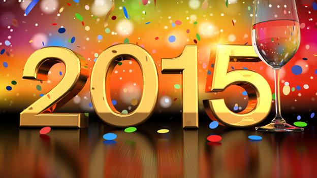 Ein sehr farbiges Bild mit Schriftzug «2015».