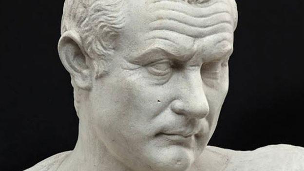 Büste des römischen Dichters Plautus.