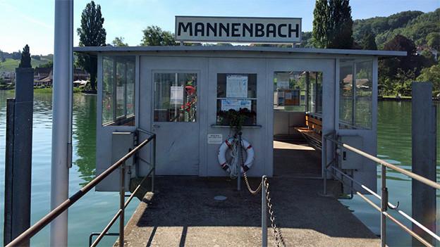 Einstiegstelle in Mannenbach am Bodensee.