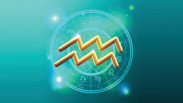 Grafik mit dem Symbol für das Sternzeichen Wassermann.