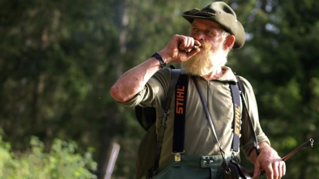 Kari Reichmuth auf der Jagd.