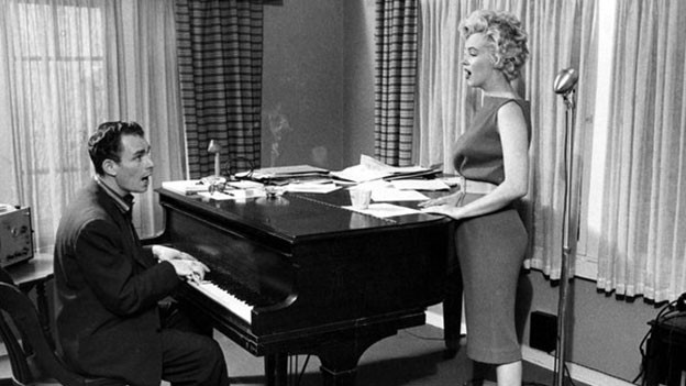 Hal Schaefer und Marilyn an Flügel.