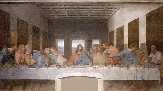 Wandbild Abendmahl