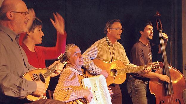 Vox Blenii mit Remo Gandolfi, Luisa Poggi, Aurelio Beretta, Gianni Guidicelli und Francesco Toschini.