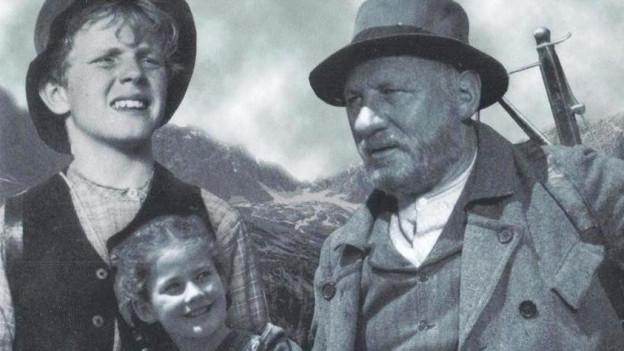 Heidi Peter und Alpöhi auf Filmplakat.