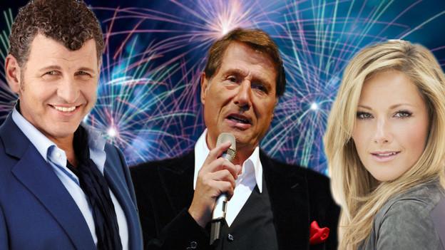 Collage der drei Interpreten Semino Rossi, Udo Jürgens und Helene Fischer.