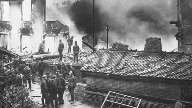 Kammfabrik nach Brand.