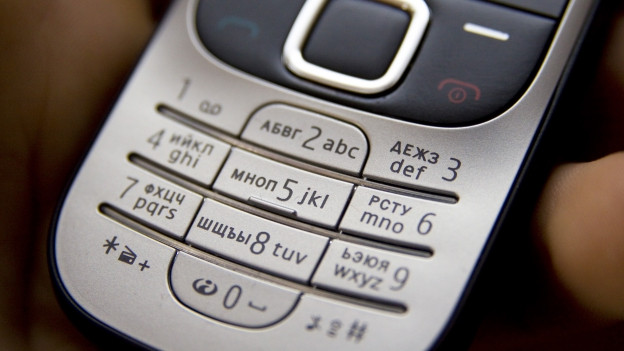 Tastatur eines herkömmlichen Handys.