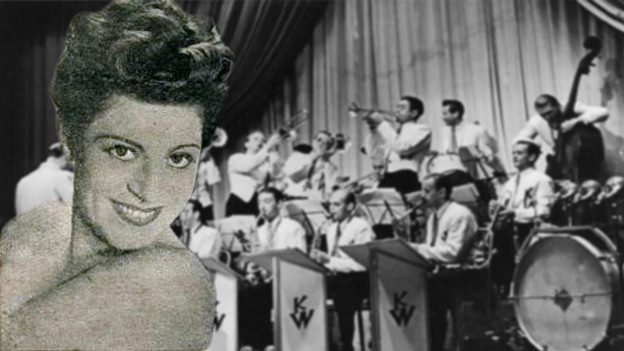 Ruth Bruck, im Hintergrund Orchester Kurt Widmann.