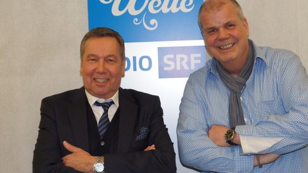 Kaiser trifft auf Martin Wittwer im SRF Musikwelle Studio.