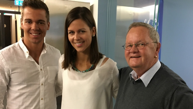 Jörg Stoller und seine Gäste Mike und Melanie Oesch.