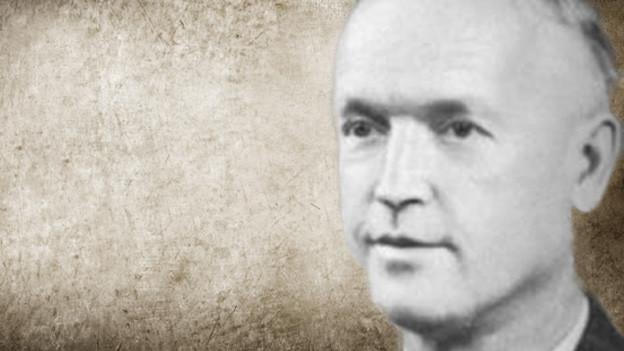 Bildollage mit einem Porträt von Jakob Düsel auf einem Vintage Hintergrund.