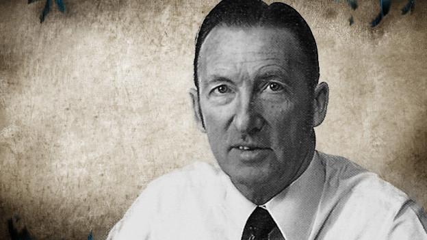 Bildcollage mit einem Porträt von Martin Beeler auf einem Vintage-Background.