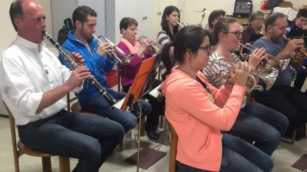 Orchester während Proben.