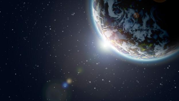 Die Erde als Teil des Universums.