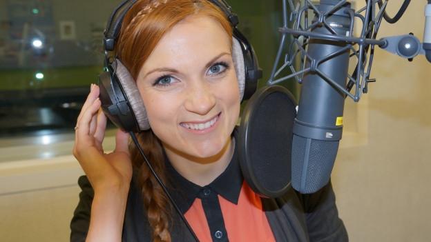 Anni Perka im SRF Musikwelle Studio.