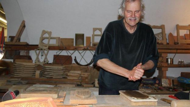 Richard Bucher bei der Arbeit