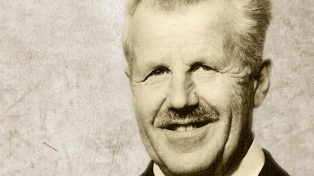 Antikes Foto-Porträt von 60-jährigem Mann.
