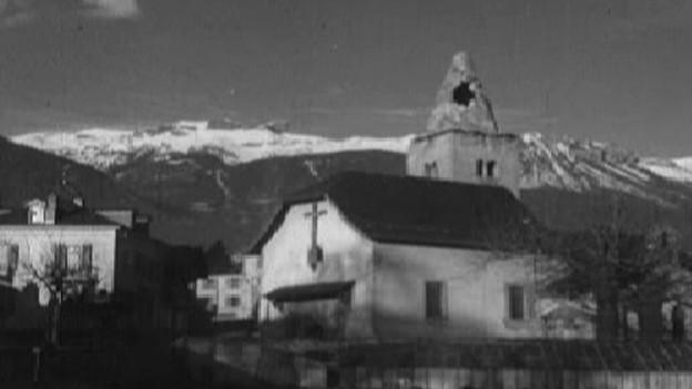 Zahlreiche Gebäude wurden beim Erdbeben 1946 beschädigt.