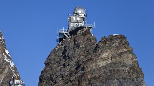 Im Sphinx-Observatorium auf 3571 m ü. M. wird heute noch geforscht.