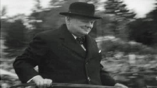 Winston Churchill fährt in Zürich ein.