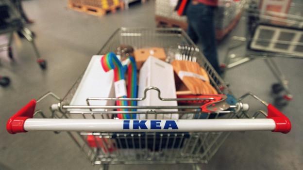 Mit zwei Ikea-Fans auf Einkaufstour in Lyssach.