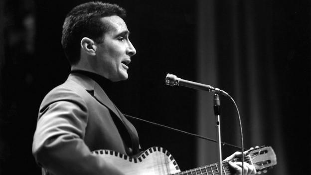 Freddy Quinn bei einem Konzert in Zürich. Dieses Bild stammt vom 7. Januar 1962.