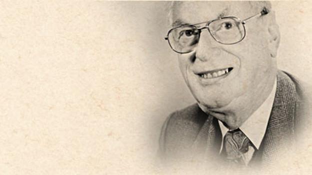 Profil von Otto Baumgartner auf vergilbtem Papier.