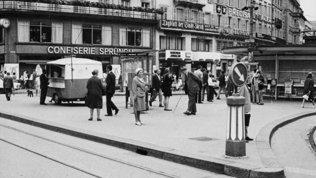 Zürcher Paradeplatz.