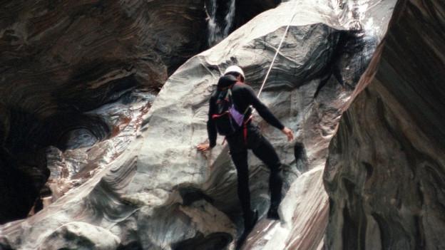 Das Hörspiel von 1978 berichtet von drei Bergsteigern auf dem Weg ins Januarloch.