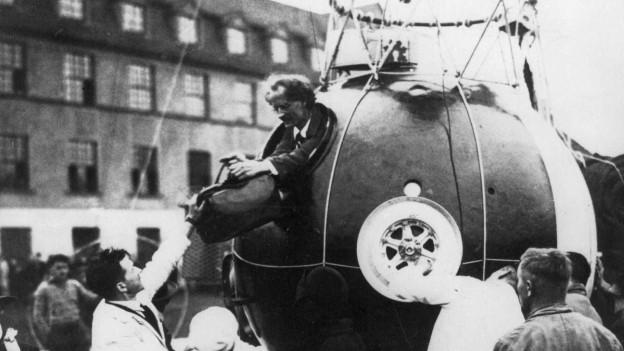 Auguste Piccard flog bereits 1931 in die Stratosphäre (Bild) und übertraf seinen Rekord 1932.