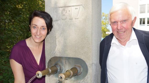 Renate Anderegg und Franz Manser.