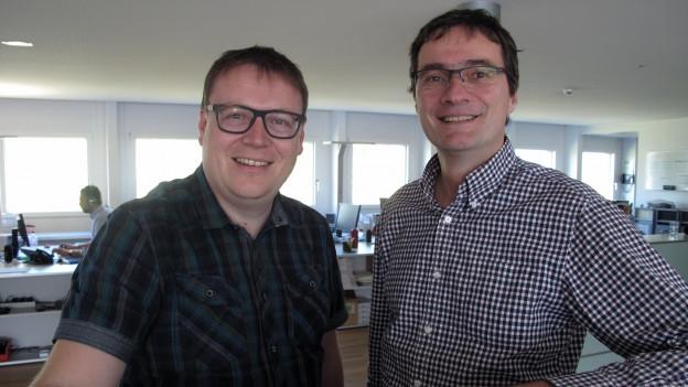 Samuel Studer und Walter Fölmli.