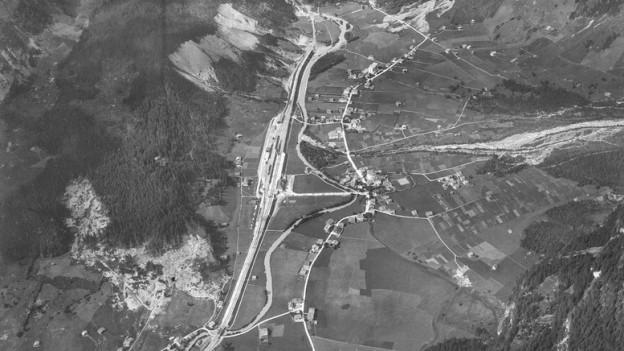 Luftaufnahme von Kandersteg.