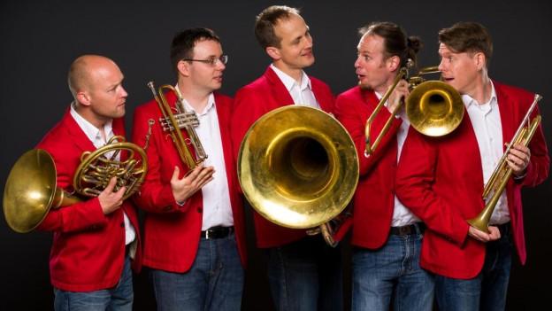 «Generell 5» (v.l.n.r.): Thomas Gmünder, Patrik Arnold, Markus Hauenstein, Xaver Sonderegger und Christoph Luchsinger.