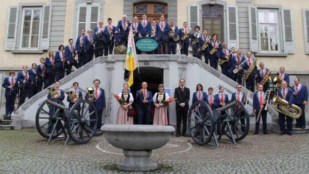 Die Stadtmusik Grenchen. Sie spielt am Abschlusskonzert am 22. April 2018.
